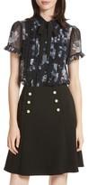 Kate Spade Women's Night Rose Short Sleeve Top