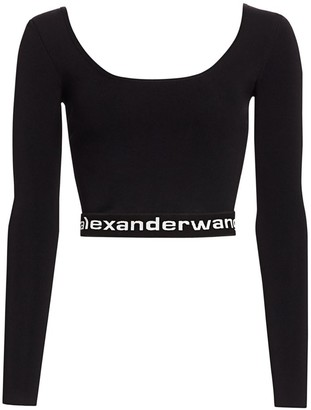 Alexander Wang Bodycon Crop Pullover