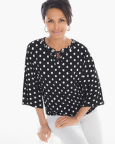 Chico's Flirty Polka-Dot Necklace Top
