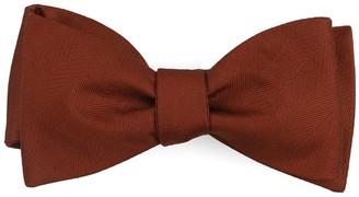 Tie Bar Herringbone Vow Copper Bow Tie