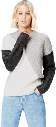 Find. Amazon Brand Women's Patchwork Cable Knit Jumper