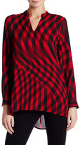Vince Camuto Swept Check Blouse