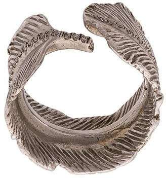 M. Cohen 14K Feather ring