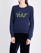 Markus Lupfer Star sequin-embellished merino wool jumper