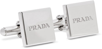 Prada Engraved Sterling Silver Cufflinks