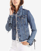 Levi's Trucker Cotton Lace-Up Denim Jacket