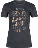 Heather Charcoal 'Awesome Aunt Killin It' Fitted Tee