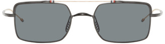 Thom Browne Gunmetal and Gold TB-909 Sunglasses
