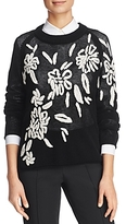 St. Emile Floral-Embroidered Sweater