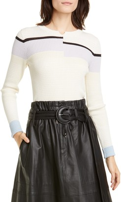 Proenza Schouler White Label Stripe Rib Sweater