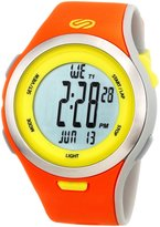 Soleus Men's SR010805 Ultra Sole Digital Dial with Orange and Yellow Polyurethane Strap Watch