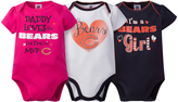 Gerber Chicago Bears Pink Short-Sleeve Bodysuit Set - Infant