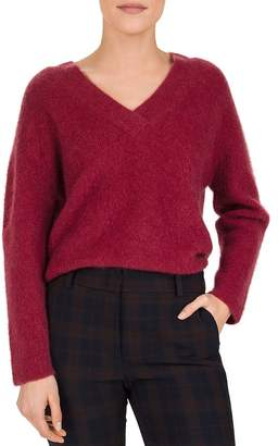 Gerard Darel Shade Textured V-Neck Sweater