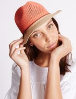 Marks and Spencer Colour Block Trilby Hat