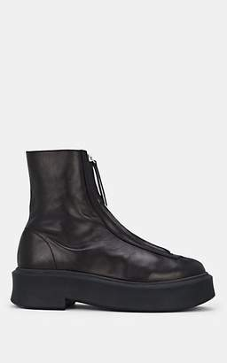 The Row Women's Leather Zip Boots - Black