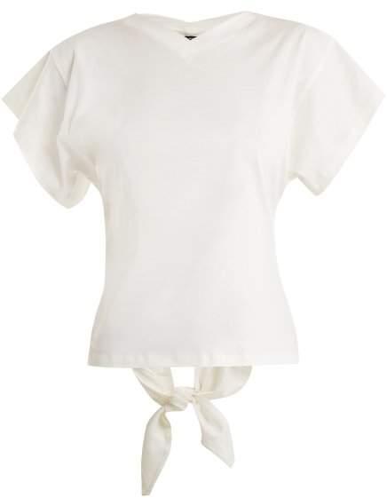 Isabel Marant Ramses V Neck Cotton Jersey T Shirt - Womens - White