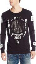 True Religion Mens Tr Sideways Graphic T-Shirt, Large, Jet Black