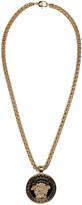 Versace Gold & Black Medusa Chain Necklace