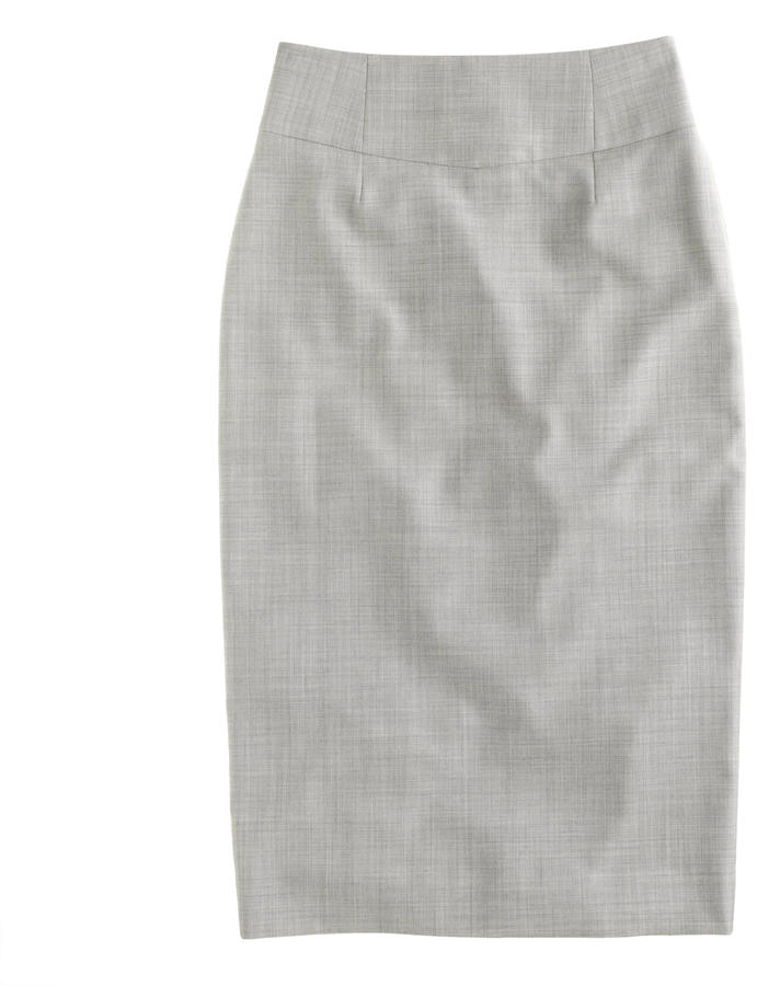 J.Crew Telegraph pencil skirt in Super 120s wool