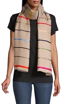 Janavi Colorful Horizon Striped Cashmere Scarf