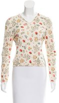 Christian Dior Floral Cropped Sweater