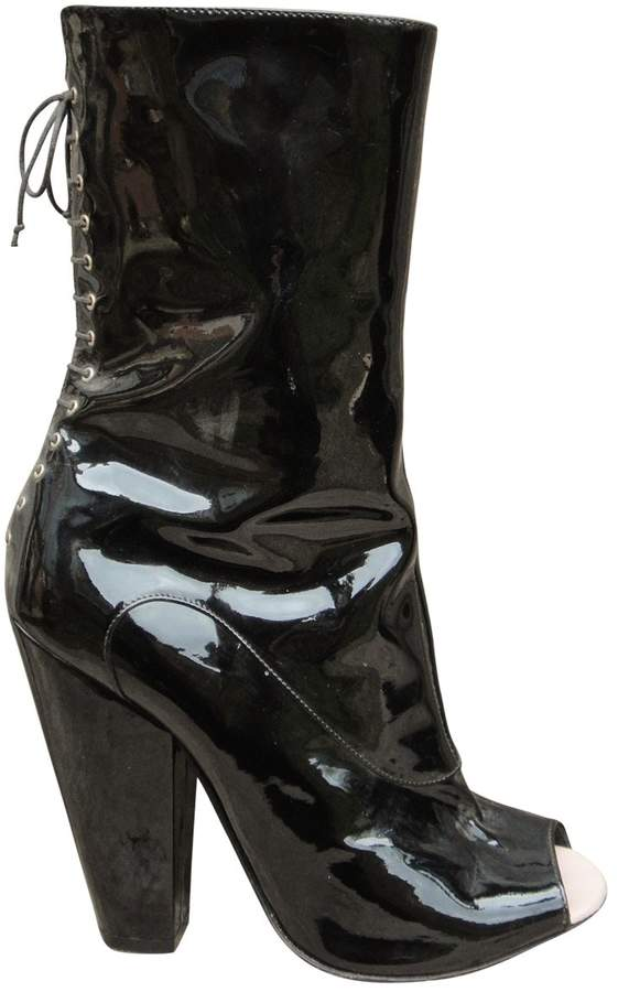 Givenchy Patent leather open toe boots