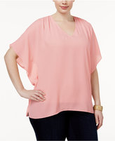 INC International Concepts Plus Size Batwing-Sleeve Top, Only at Macy's