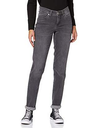 M·A·C MAC Jeans Women's Melanie New Straight Jeans, (Dark Grey Authentic Used D918), (Size: 38/32)