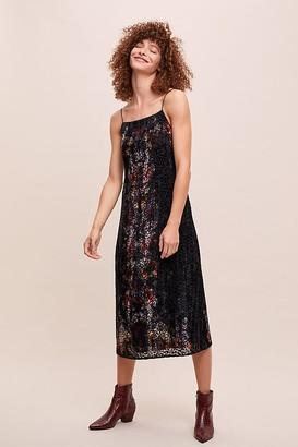 Anthropologie Kachel X Kachel Burnout-Velvet Slip Dress