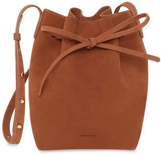 Mansur Gavriel Suede Mini Bucket Bag - Rust