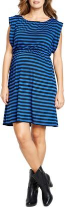 Maternal America Maternity Printed Tunic Dress