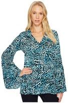 MICHAEL Michael Kors Big Cat Bell Sleeve Tunic Women's Blouse