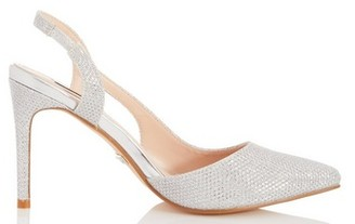 Dorothy Perkins Womens *Quiz Silver Point Slingback Heels, Silver