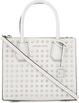 MICHAEL Michael Kors Mercer studded leather messenger bag