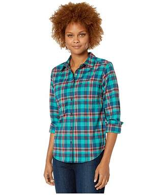 Royal Robbins Thermotech Flannel (Harbor) Women's Long Sleeve Button Up