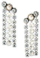 Lanvin Three-Row Crystal Drop Earrings