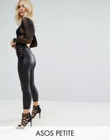 Asos Corset Waist Cropped Leather Look Leggings