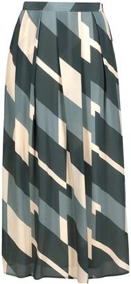 Alysi Geometric Pleated Skirt