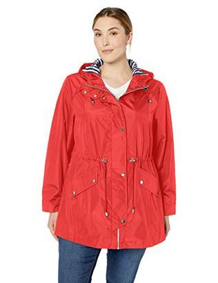 Details Women's Plus Size Zip Front Hooded Anorak