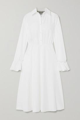 Valentino Cotton-blend Poplin Midi Dress - White