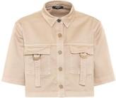 Balmain Cropped stretch-cotton shirt