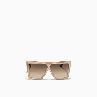 Christian Roth Gold Tone Ventriloquist Sunglasses