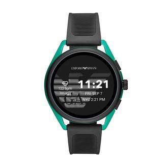 Emporio Armani Men's Smartwatch 3 Touchscreen Aluminum and Rubber Smartwatch