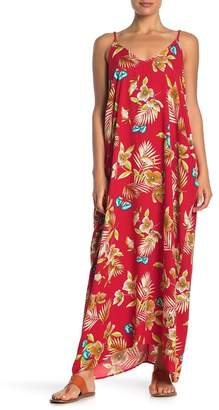 Love Stitch Floral Sleeveless V-Neck Maxi Dress