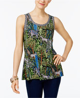 INC International Concepts Split-Back Tank Top, Created for Macy's