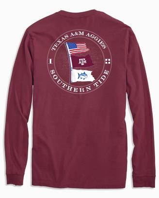 Southern Tide Texas A&M Aggies Flags Long Sleeve T-Shirt