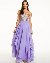 Le Château Embellished Chiffon Strapless Gown