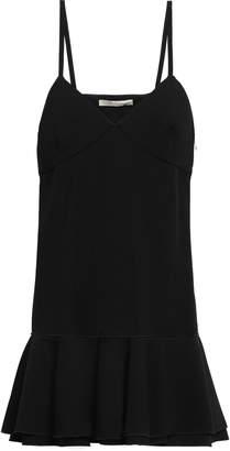 Victoria Beckham Ruffled Crepe Mini Dress