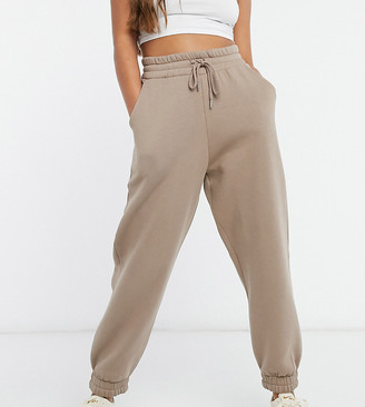 ASOS DESIGN Petite super oversized jogger in mushroom