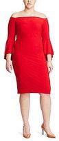 Lauren Ralph Lauren Plus Off-the-Shoulder Sheath Dress
